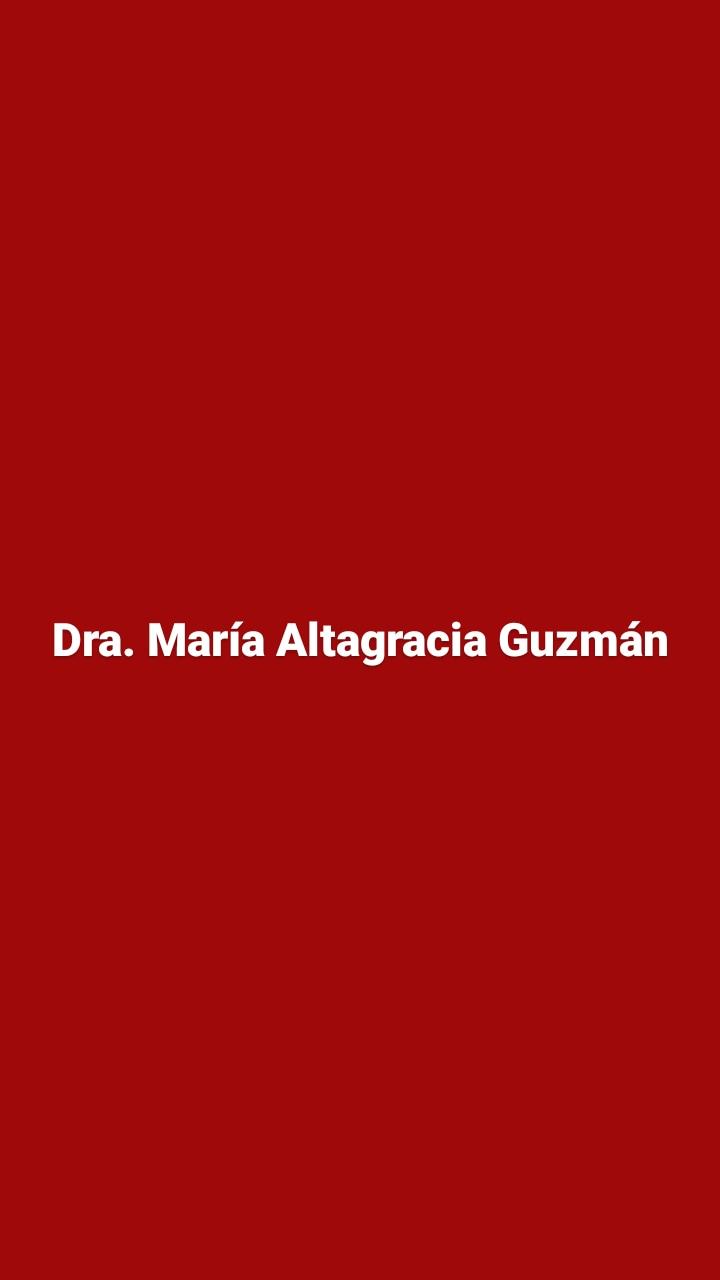 Dra. María Altagracia Guzmán